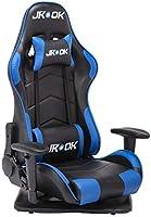 JKOOK ゲーミングチェア 座椅子 180度リクライニング ハイバック 可動肘 ヘッドレスト クッション付き 一年無償部品交換保証 ZY05