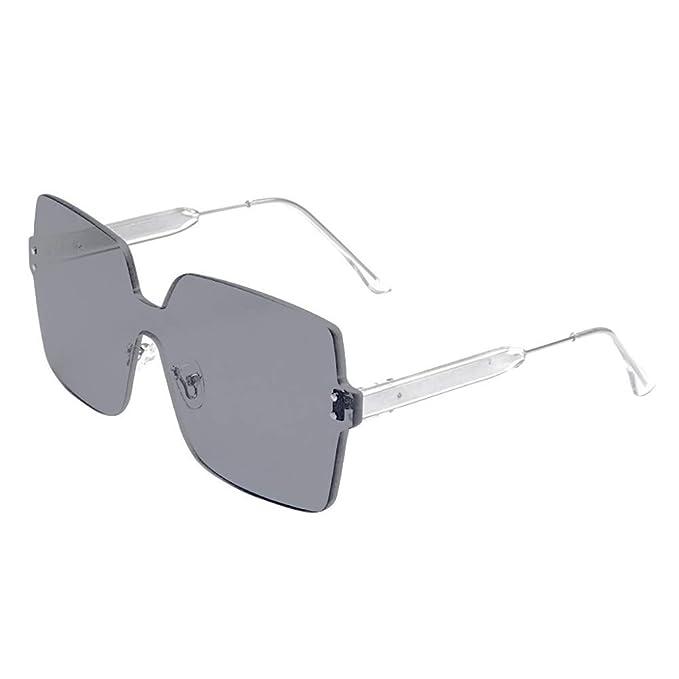 Amazon.com: OUBAO Gafas de sol retro gafas de sol integradas ...