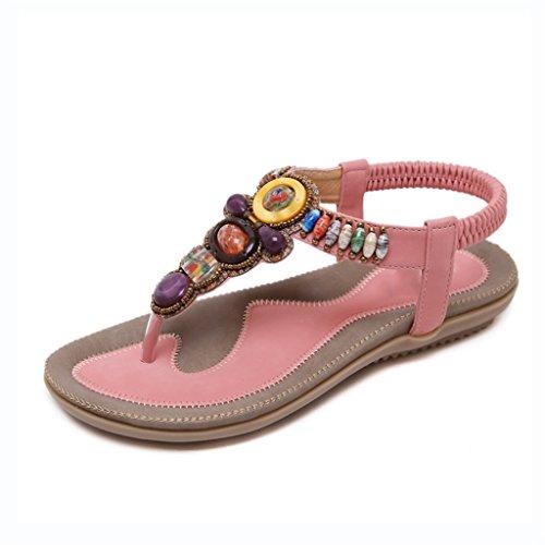 Bao planos sandalias Imitación Puntera sandalias Verano Xing 35 Mujer Playa De Sandalias Verano size Bei Mujer zapatillas Diamantes Firm T Bohemia rUrwqYT6