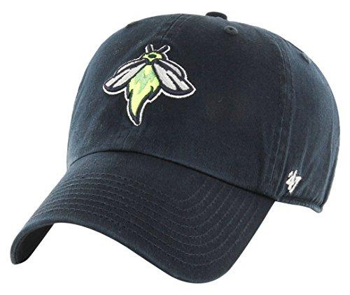 Minor League Baseball Columbia Fireflies Adult Minor League Baseball '47 Clean Up Adjustable Hat, One Size, Navy
