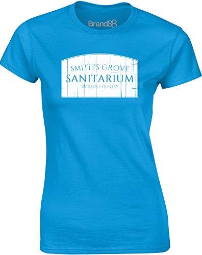 Smith's Grove Sanitarium, Ladies T-Shirt - Sapphire/White S = 2-4 -