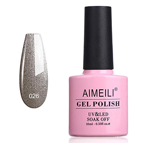 Amazon Com Aimeili Soak Off Uv Led Gel Nail Polish Vip Mocca 026 10ml Beauty