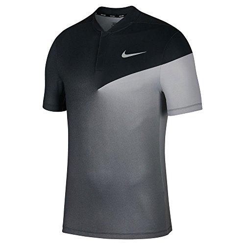 Nike Dry Fit Slim HO Print Golf Polo 2017 Black/Flat Silver Large