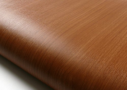 ROSEROSA Peel & Stick Backsplash Embossed Cherry Wood Contact Paper Self-adhesive Wallpaper Shelf Liner Table Door Reform (PF4005-2 : 1.96 Feet X 6.56 Feet) by ROSEROSA