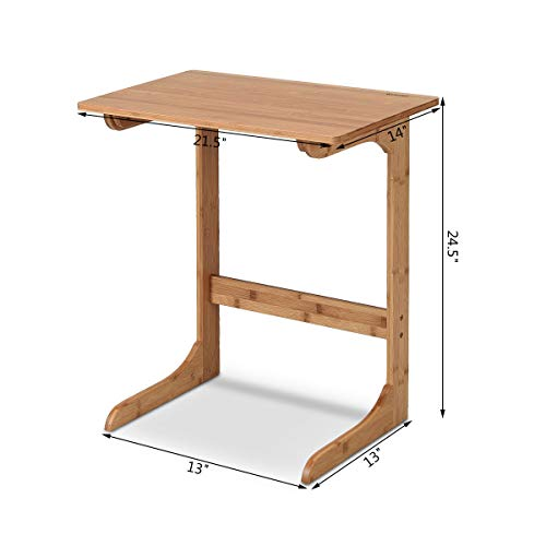 Tangkula Sofa Side End Table C Table Laptop Holder End Stand Desk