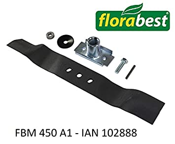 Flora Best Cuchilla de repuesto para Lidl Flora Best FBM Cortacésped de gasolina 450 A1 –