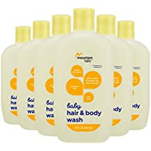 Mountain Falls Hypoallergenic Tear-Free Baby Hair and Body Wash, Compare to Johnson's, 15 Fluid Ounce (Pack of 6)