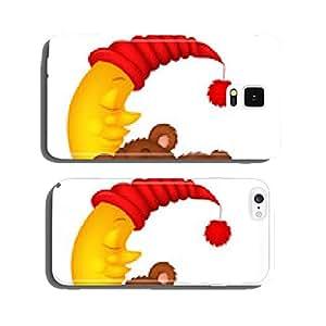 The teddy bear sleep on the moon cell phone cover case iPhone5