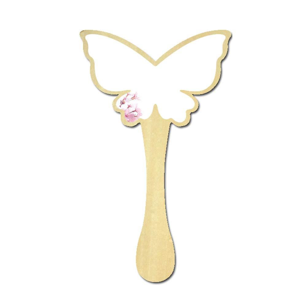 Rameng Portable Petite Miroir à Main Bois Princesse Miroir de Maquillage Pour Femme Filles (F) Rameng