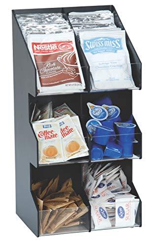 Vertiflex Condiment Organizer - Dispense-Rite VCO-6 Six Section Countertop Vertical Lid/Condiment Organizer