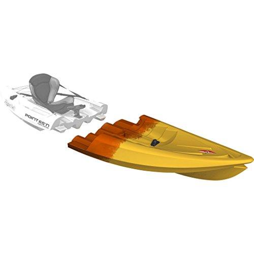 Point 65 Tequila! GTX Angler Modular Kayak Front Section | Yellow/Orange 31