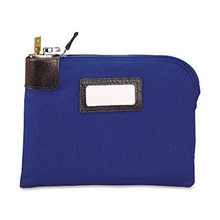 Seven-Pin Security/Night Deposit Bag, Two Keys, Cotton Duck, 11 x 8 1/2, Blue (2-Pack)