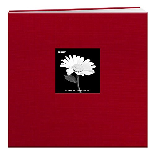 Pioneer 12-Inch by 12-Inch Book Cloth Cover Postbound Album with Window, Red (Scrapbook Red Pioneer)