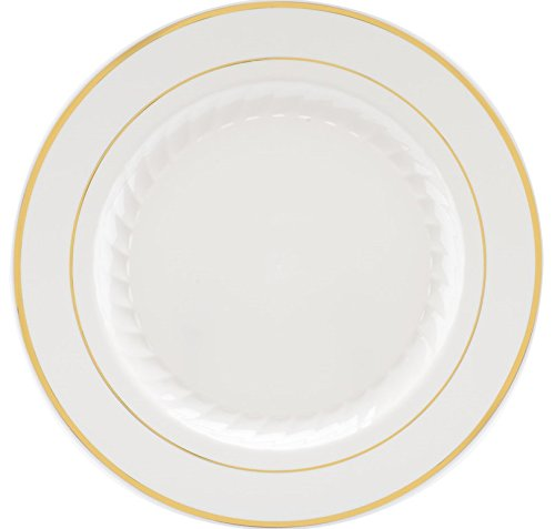 500 Pieces Plastic China Plate Silverware Combo for 100 peop
