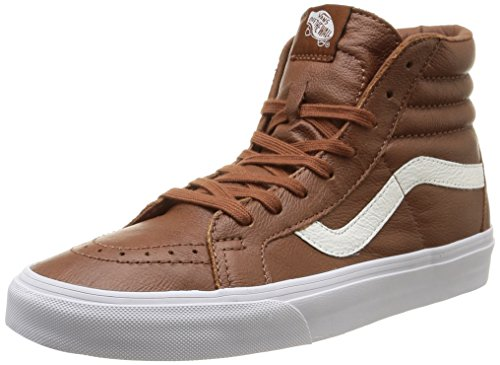 Premium Reissue Leather Sneakers Sk8 Leather Tortoise U Marrone Unisex Hi Shell Vans q8Bp7p