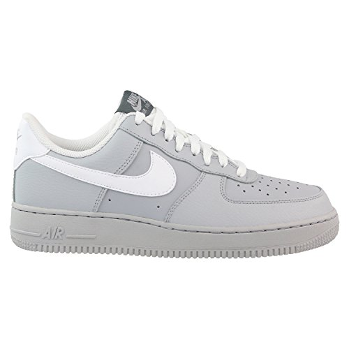 Nike Men's Air Force Low 1 Basketball Shoe Wolf Grey/Dark Grey/Game Royal/White 10
