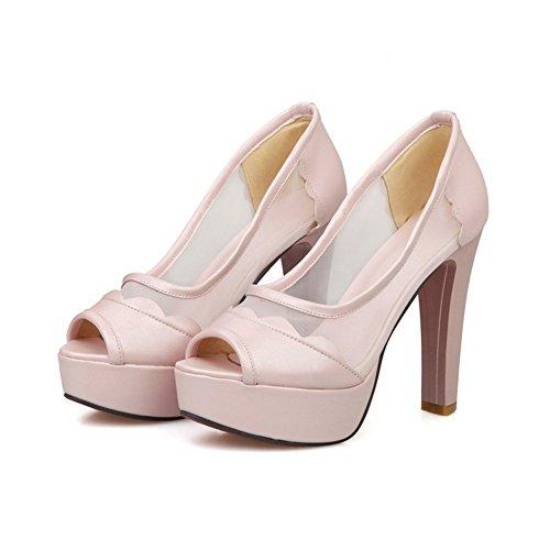 Adee Ladies dance-ballroom high-heels Poliuretano Sandalias Rosa - rosa