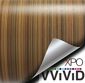 2ft x 48 VViViD Striped Maple Wood Grain Faux Finish Textured Vinyl Wrap Roll Sheet Film for Home Office Furniture DIY No Mess Easy to Install Air-Release Adhesive VW0250
