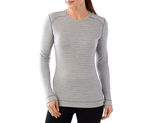 Smartwool Women's NTS Mid 250 Pattern Crew (Light Gray Heather/Natural) Medium Smartwool Clothes