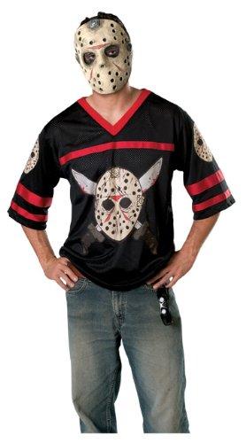 Jason Friday The 13th Halloween Costume (Friday The 13th Jason Hockey Jersey And Mask, Black, X-Small)