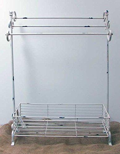 HFG Handtuchhalter zum Stellen Metall antikwei/ß B 62 cm Handtuchst/änder