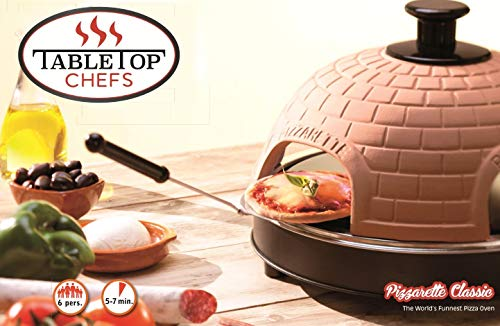 Pizzarette World's Funnest Pizza – 6 Model Countertop Europe's Best-Selling Pizza Available In USA Dual Heating
