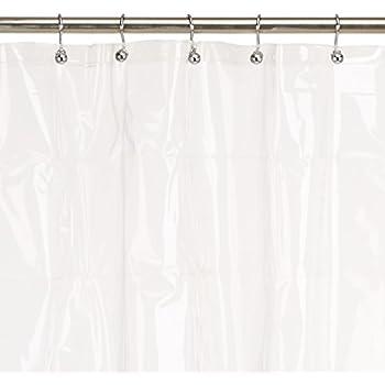Maytex 8-Gauge Mildew Free No PVC Premium Heavy Weight EVA Shower Liner or Curtain with Rustproof Metal Grommets, Clear