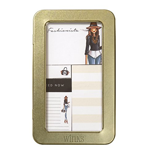 "C.R. Gibson 5-Piece Sticky Notes & Page Flags Set by Winks, 4.25"" W x 7"" H x .635"" D - Fashionista Hat"