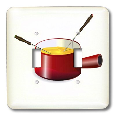 3dRose lsp_41654_2 Retro Fondue Pot With Cheese Double To...