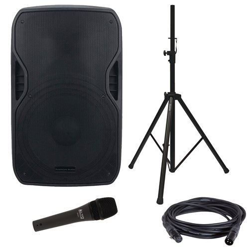 American Audio Microphone (American Audio ELS-GO 15BT Battery-Powered Speaker & Stand with Vocal Microphone)