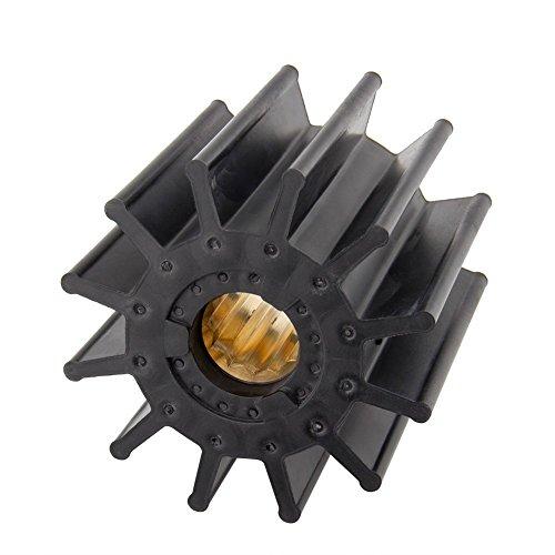 Jabsco 17936-0001-P, Neoprene, Drive Type 7, 12 Blade, 3-3/4 Diameter, 3-1/2 Width, 1 Shaft, Brass Insert primary
