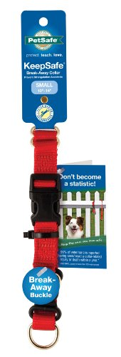 PetSafe KeepSafe  3/4-Inch Medium Break-Away Dog Collar, Red