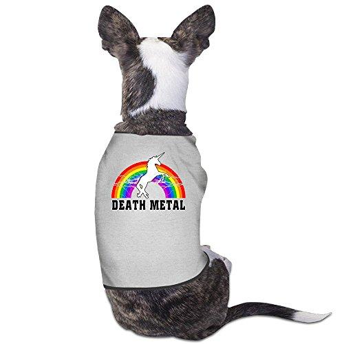 Puppies Clothes - Death Metal Unicorn Rainbow Dog - Unicorns Bloody