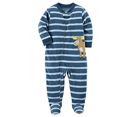 Carter's Baby Boys' One Piece Moose Fleece Pajamas 6 ()