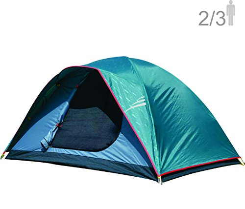NTK Oregon GT 2 to 3 Person 5 by 7 Foot Outdoor Dome Family Camping Tent 100% Waterproof 2500mm, Easy Assembly, Durable Fabric Full Coverage Rainfly - Micro Mosquito Mesh for Maximum Comfort.