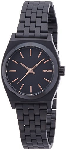 NIXON SMALL TIME TELLER: ALL BLACK / ROSE GOLD NA399957-00 Ladies