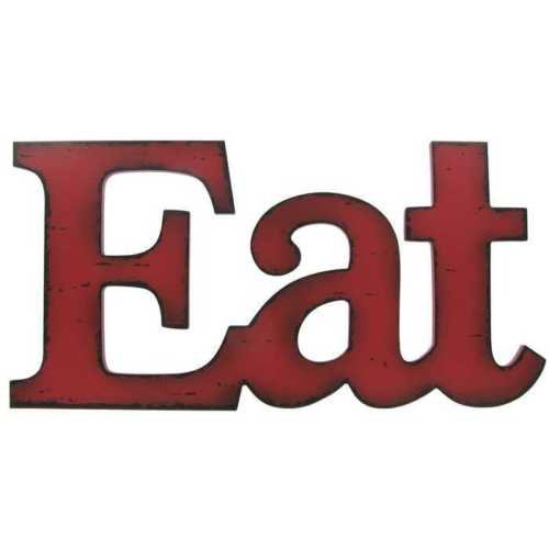 Eat Sign Red
