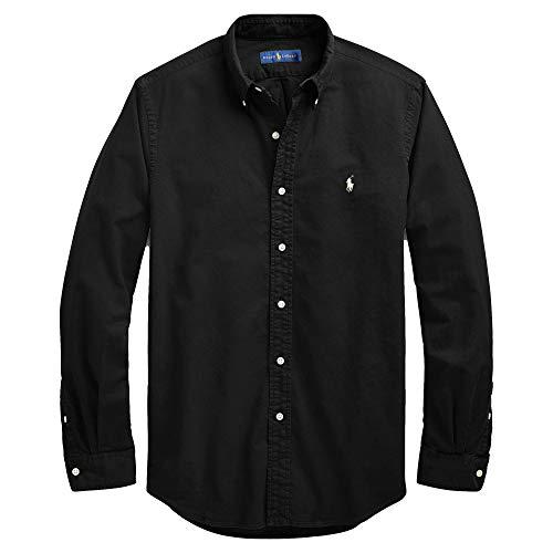 Polo Ralph Lauren Men's Big and Tall Long Sleeves Classic Fit Oxford Buttondown Shirt (1X Big, Black)