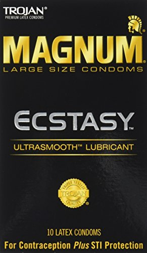 Trojan Magnum Ecstasy Ultra Smooth Lubricant, 10 Count