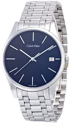 Calvin Klein K4N21141 Mens Time Black Silver Watch