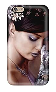 Awesome Design Woman With Owl Hard Case Cover For Iphone 6