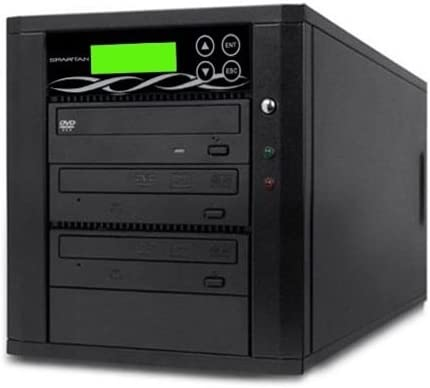 Spartan Edge 1 to 6 Target Multiple DVD//CD Disc Copy Tower Duplicator with 24x Writer Burners D06-SSP Standalone Video /& Audio Back-Up Duplication System