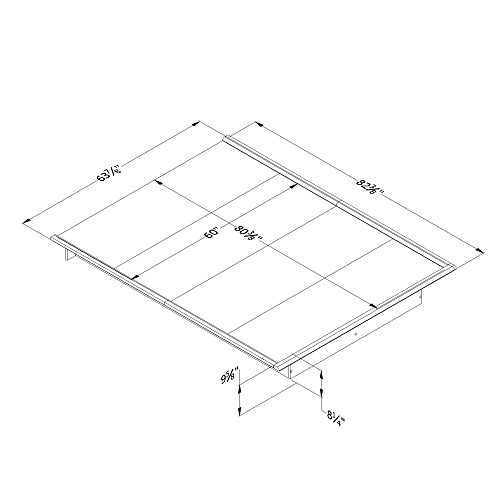 South Shore 10440 Platform Bed Step One Queen, 60