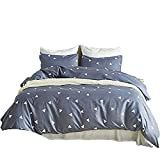 YOUMIMAX Triangle Geometry Bedding Cover Set Easy Care,Hidden Zipper Cover,2 Pcs (1 Duvet Cover + 1 Pillow Case) Kids Bed Set Twin