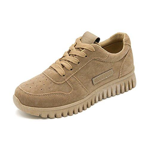 Feilongzaitianba Bodybuilding Sneakers Women Shoes Walking Canvas Shoes Trend Casual Travel Shoes Khaki 8