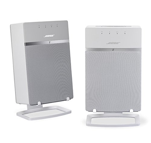 Bose SoundTouch 10 Wireless Speakers with SoundXtra Desk Stands (Pair), White