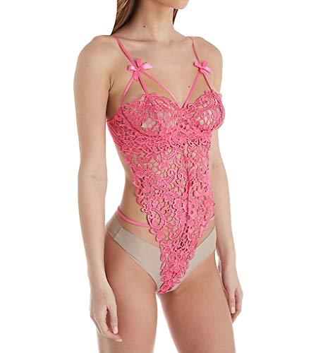 - Dreamgirl Women's Venice Lace Teddy Bodysuit, Fuchsia, Large