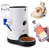 Petbobi Automatic Feeder Pet Food Water Dispenser Real-Time HD Night Vision Camera Smart Wi-Fi, Blue