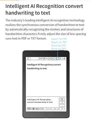 """Likebook Ares-Note Ereader,Free Leather case Screen Protector 7.8"""" E-Ink HD Touchscreen E-Book Reader,Android 6.0 Octa Core Processor, Built in Warm/Cold Light and Audible,2GB+32GB,Support USB C TF"""