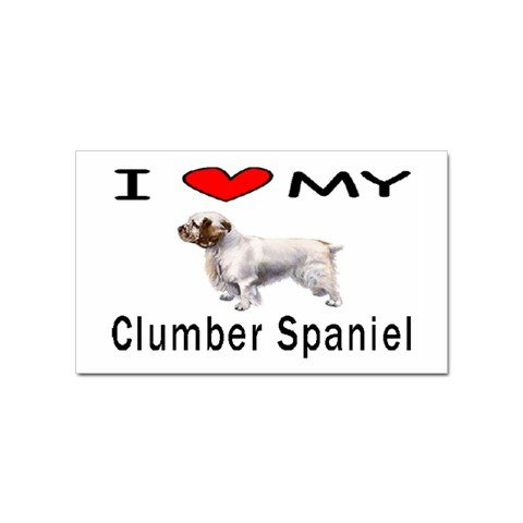 I Love My Clumber Spaniel Rectangular Magnet